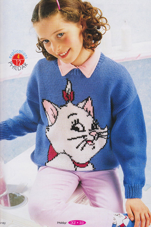 Explication Pull Tricot Disney Marie Les Aristochats