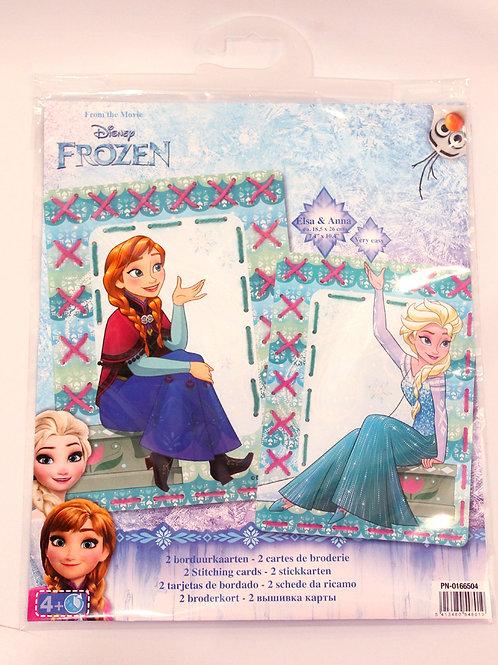 Cartes de broderie Disney Anna et Elsa La Reine des Neiges