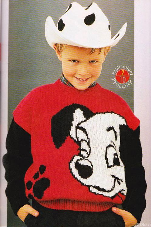 Explication Pull Tricot Disney Les 101 dalmatiens