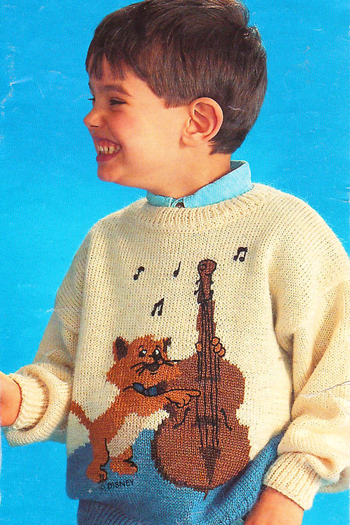 Explication Pull Tricot Disney Toulouse Les Aristochats