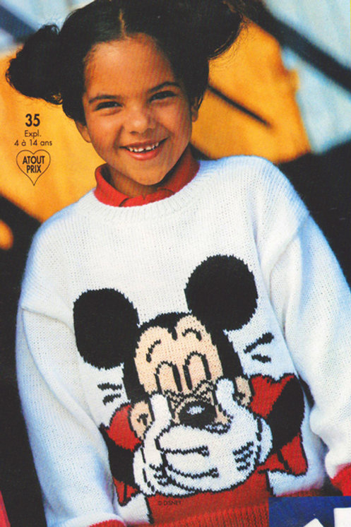 Explication Pull Tricot Disney Mickey Rieur