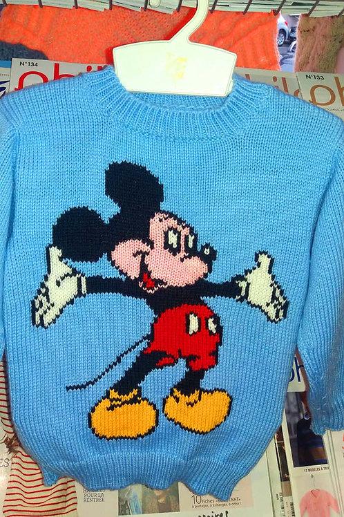 Pull Jacquard Mickey Disney Enfant