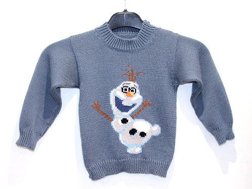 Pull Jacquard Enfant Disney Olaf La reine des neiges