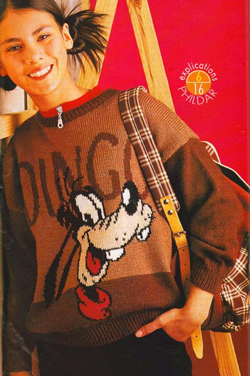 Explication Pull Tricot Disney Dingo