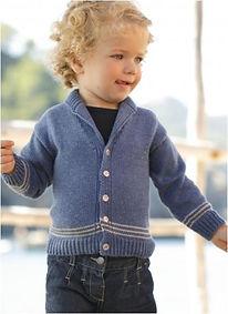 gilet tricot col châle bébé bergère de france