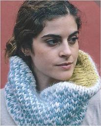 tour de cou tricot snood femme jersey katia