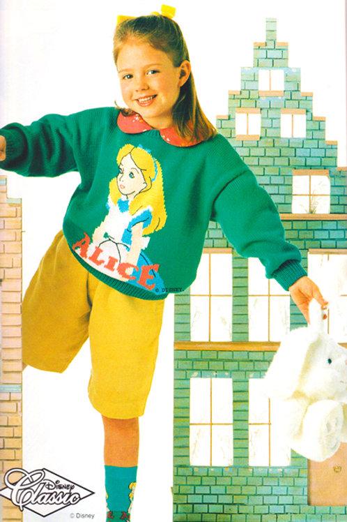 Explication Pull Tricot Disney Alice au pays des merveilles