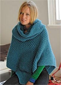 poncho tricot facile femme bergère de france