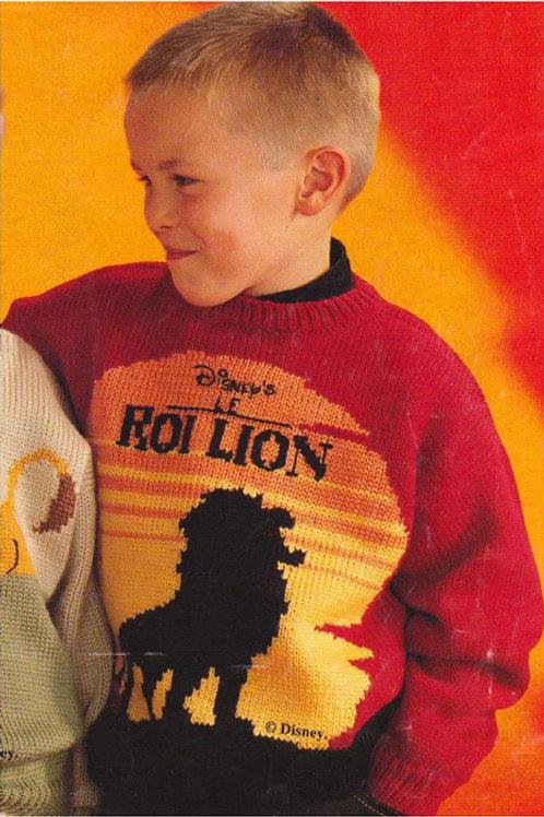 Explication Pull Tricot Disney Le Roi Lion