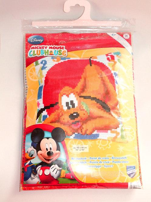 Coussin canevas Disney Pluto La Maison de Mickey