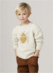 pull enfant tricot garçon scarabé