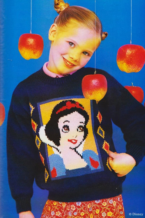 Explication Pull Tricot Disney Blanche Neige et les sept nains