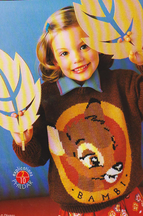 Explication Pull Tricot Disney Bambi