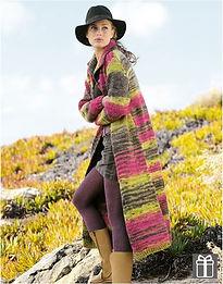 gilet long tricot manteau femme veste katia