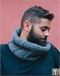 snood tour de cou homme tricot katia