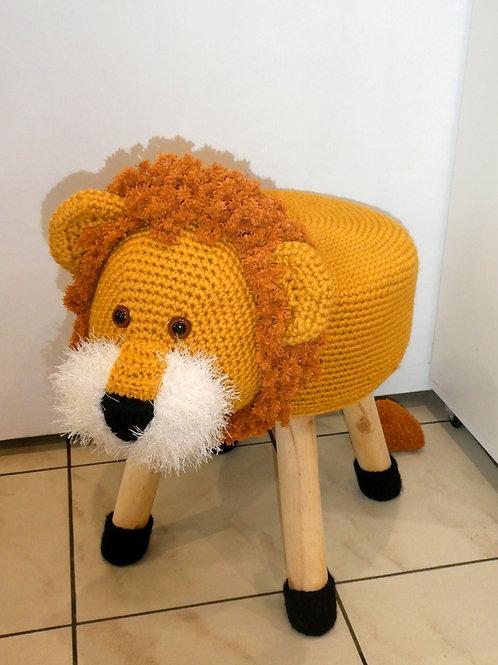 Tabouret animalier pour enfants Léon, le lion
