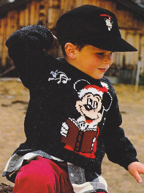Explication Pull Tricot Disney Mickey Père Noël