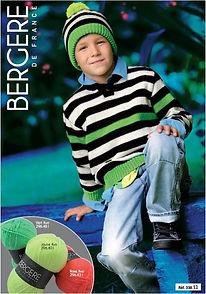 pull tricot enfant garçon jersey à rayures barisienne
