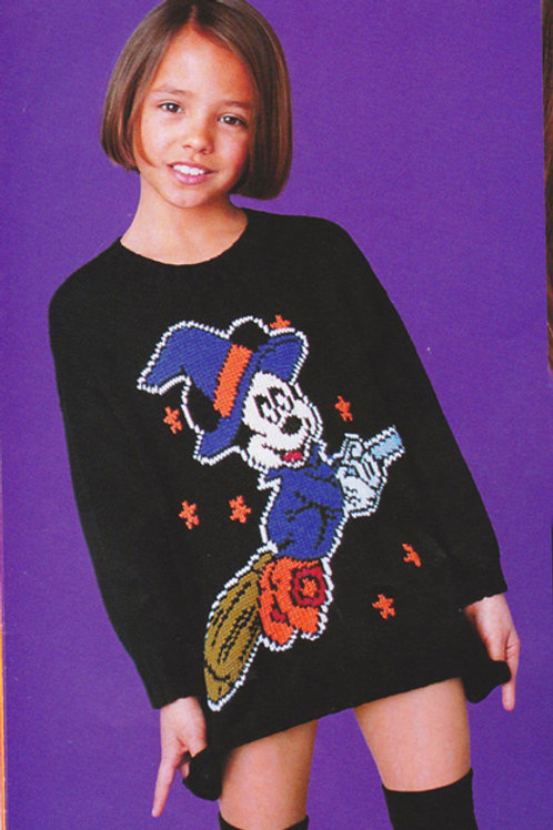 Explication Pull Tricot Disney Minnie Sorcière Halloween