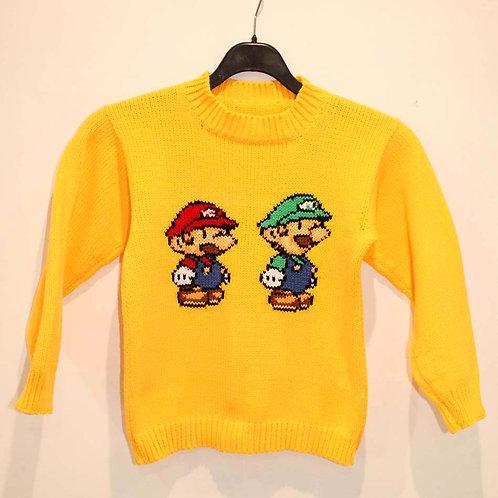 Pull enfant Mario et Luigi Nintendo