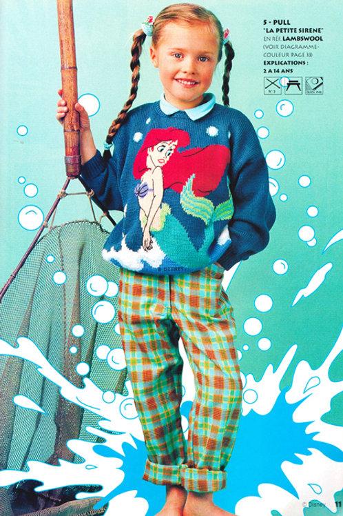 Explication Pull Tricot Disney Ariel La Petite Sirène