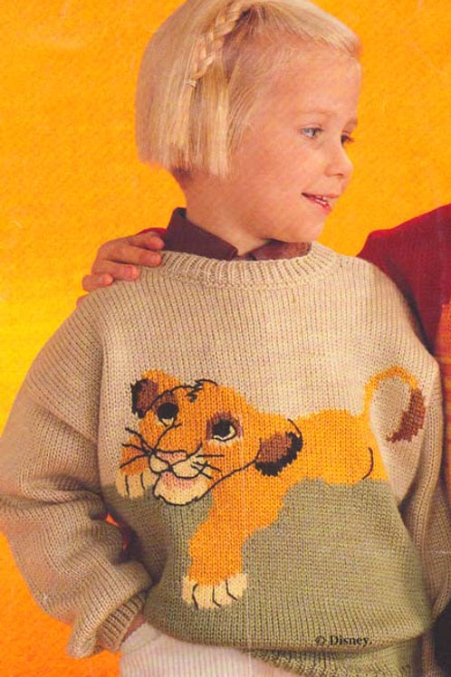Explication Pull Tricot Disney Le Roi Lion Simba
