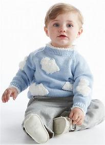 brassière bébé layette nuage