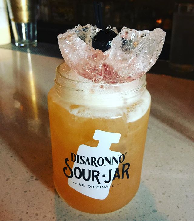 Disaronno stone sour, done right! #touztou Somabartending #disaronno #sanfranciscobartendingclass #s