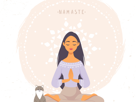 "Say it with me ""NAMASTE"""