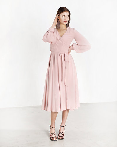 Va va vum Dress (powder pink)