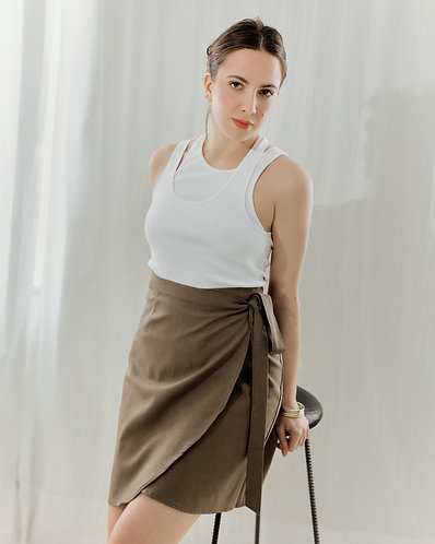 Angela skirt (brown)