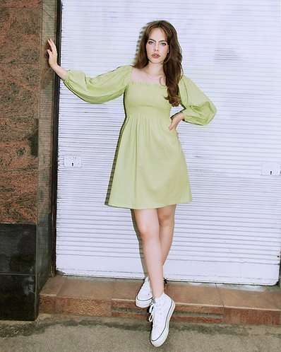 Viola Dress (lime)