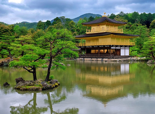 An out of this world temple, The Golden Pavilion Temple in Kyoto, Japan.