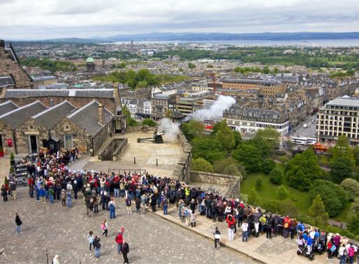 One O'clock Gun at Edinburgh Castle, Scotland