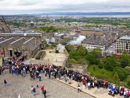 One O'clock Gun at Edinburgh Castle, Scotland