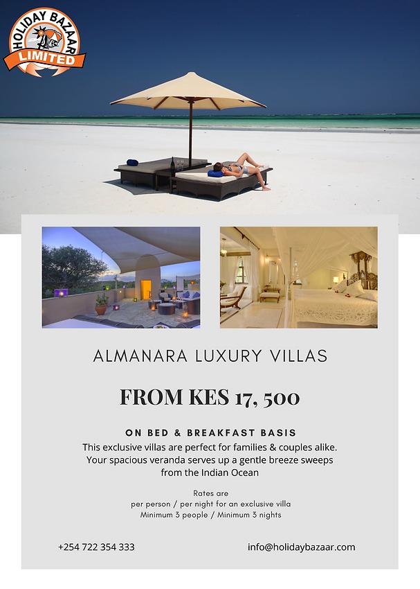 Almanara Luxury Villas Diani Mombasa Kenya By Holiday Bazaar