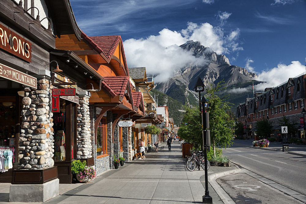Banff Canada, street view