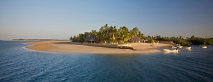 Manda bay located on the tip of an unspoilt, idyllic island in Lamu's archipelago where you kick off your shoes and enjoy simplistic beauty in palm thatched cottages and open living spaces.