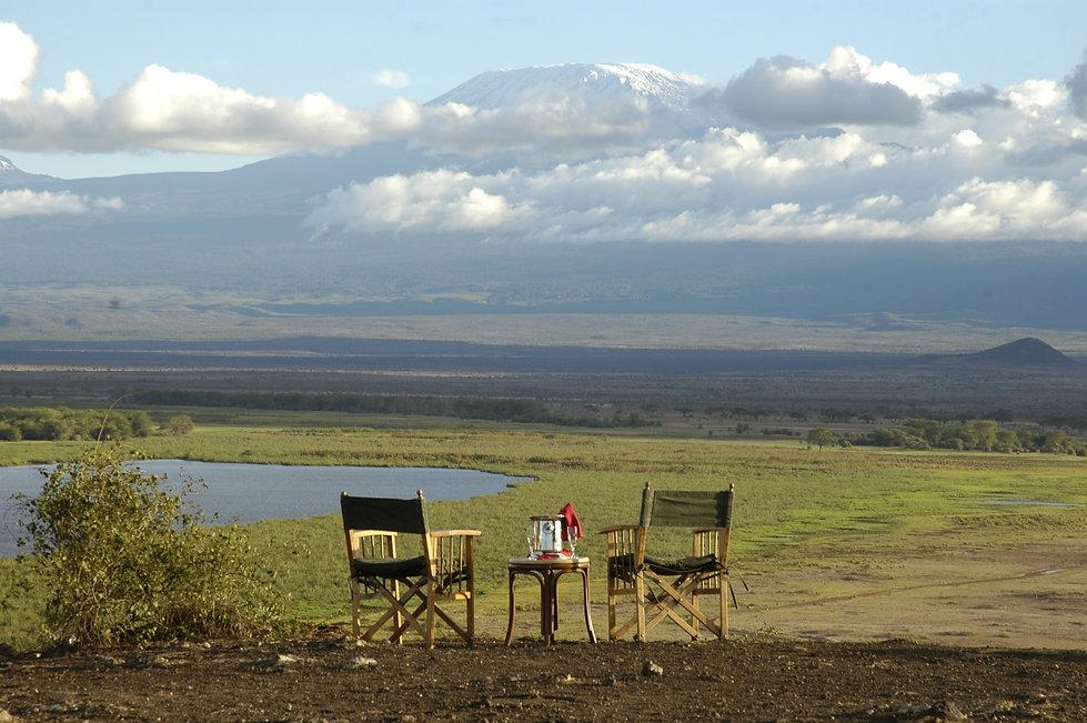 07 - Sundowners Overlooking Mt. Kilimanj
