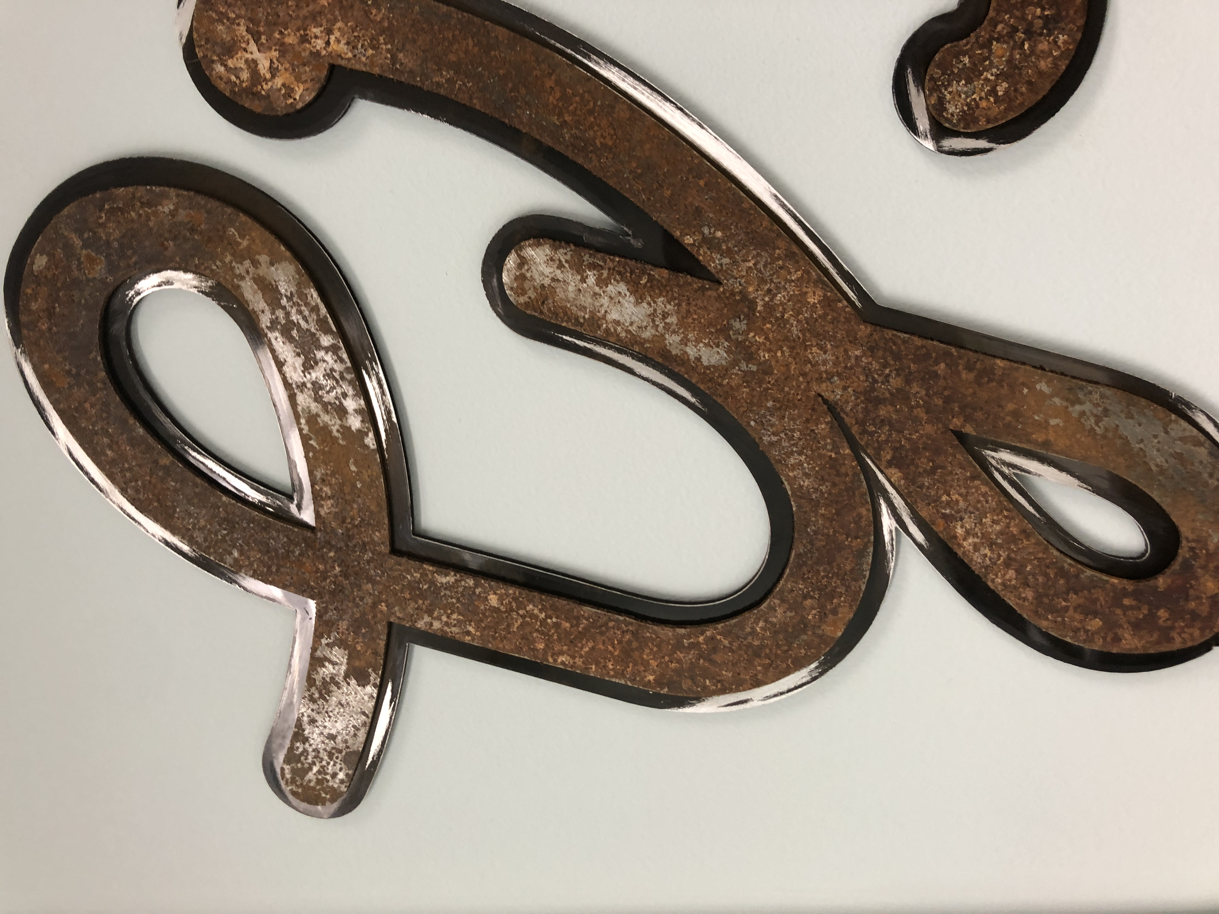 Hand rusted sign