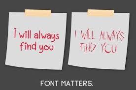 HipTip #4: Fonts matter.