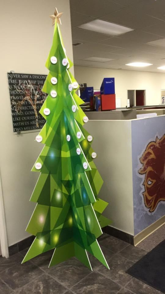 Printed Christmas Tree