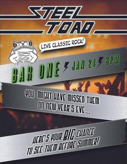 Steel Toad Handbills Bar One Jan 24S-02-