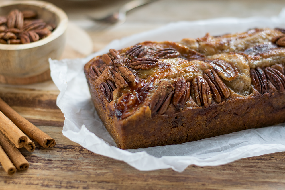 Gluten-Free, Vegan Maple, Banana & Pecan Bread