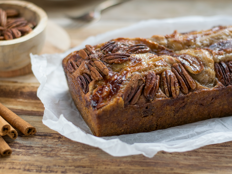Gluten-Free, Vegan Maple, Banana & Pecan Bread