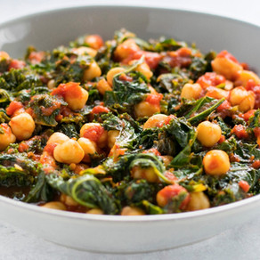 Country Kale and Tomatoes