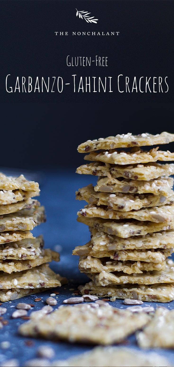 Gluten free garbanzo tahini homemade crackers