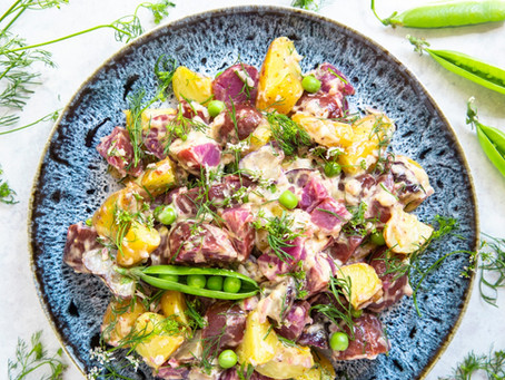 Tricolor Fingerling Potato Salad