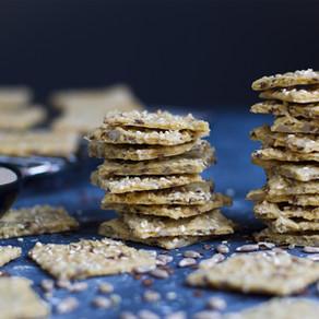 Gluten-Free Garbanzo-Tahini Crackers