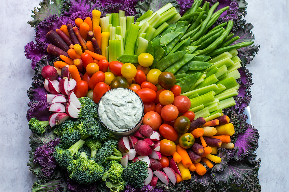 crudite platter with ranch dip